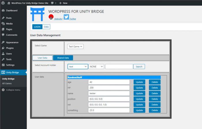 WordPress For Unity Bridge : Data extension